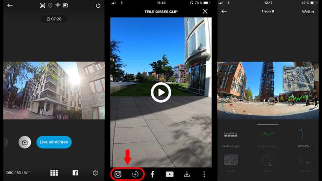GoPro Hero 7 App Funktionen©COMPPUTER BILD