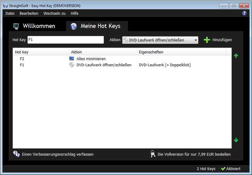 Screenshot 1 - Easy Hot Key