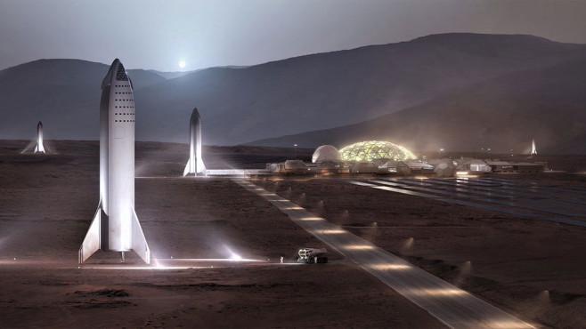 SpaceX: Mars-Basis©Twitter.com