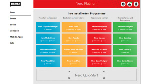 Nero Platinum: Neue Startoberfläche©NERO AG
