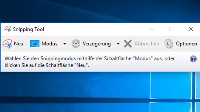 Snipping Tool nach dem Windows 10 April 2018 Update (1803) © COMPUTER BILD