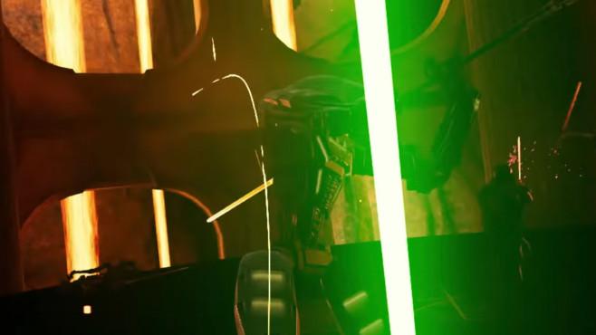 """Oculus Quest: Praxis-Test, Infos, Details, Preis, Release Im beeindruckenden """"Vader Immortal"""" schwingen Sie als Darth Vader das Laserschwert.©ILMxLab"""