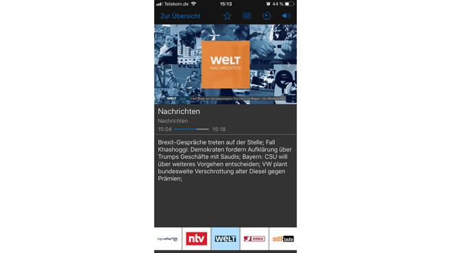 FritzOS 7.0 Fernsehen WLAN TV-IP©AVM, APPLE, WELT