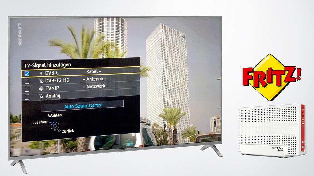 Panasonic-Fernseher empfangen TV-Programme aus der FritzBox