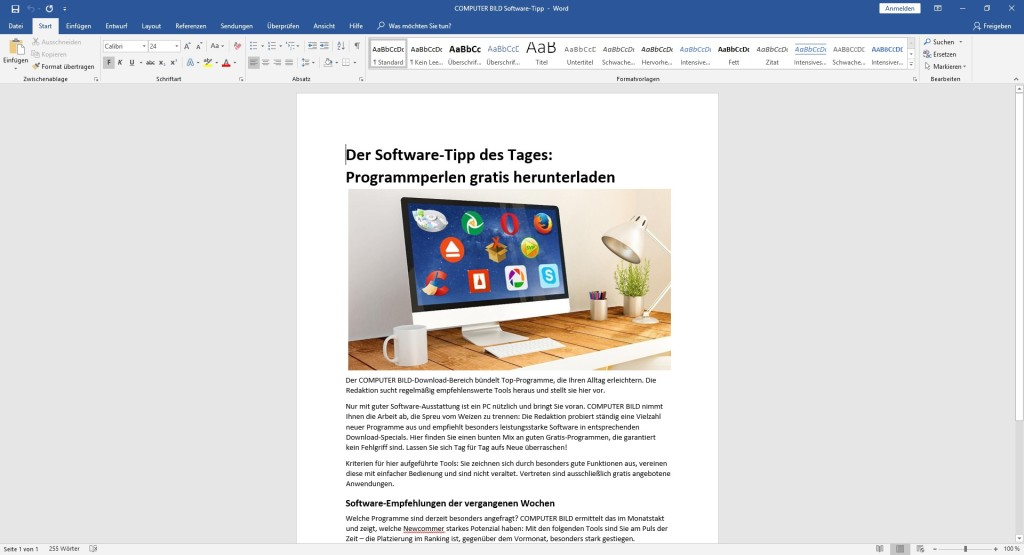 Screenshot 1 - Microsoft Office 2019 Home & Business