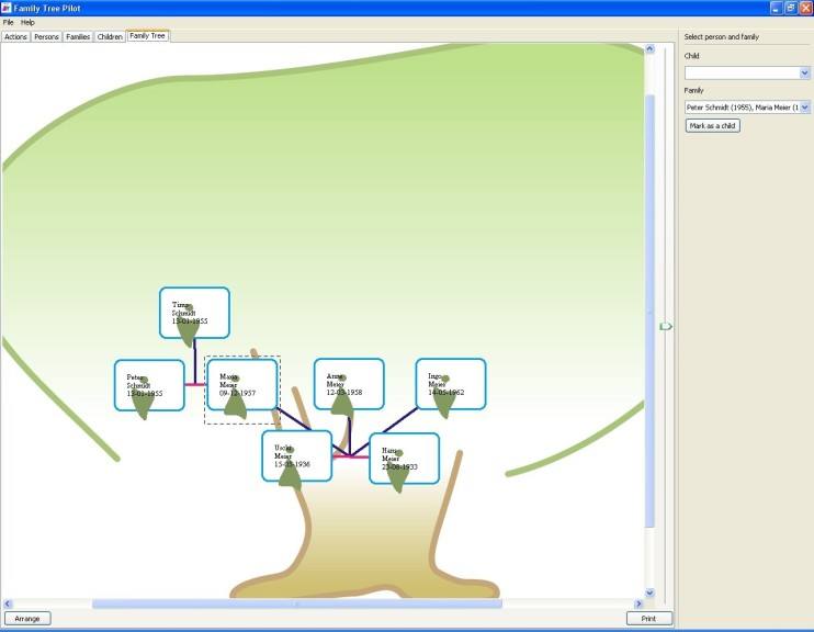 Screenshot 1 - Family Tree Pilot