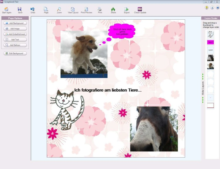 Screenshot 1 - Scrapbook Flair