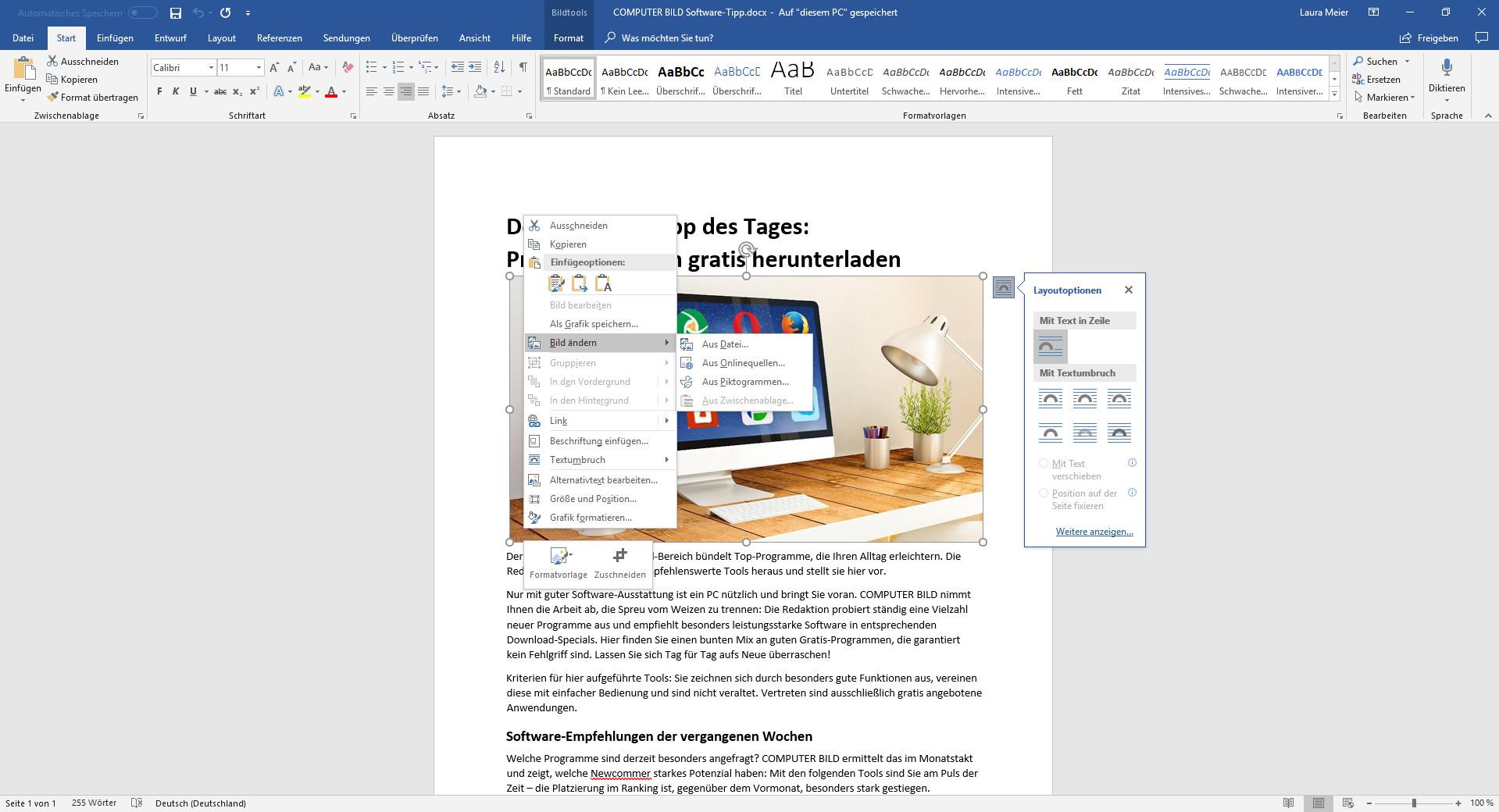 Screenshot 1 - Microsoft Word 2021