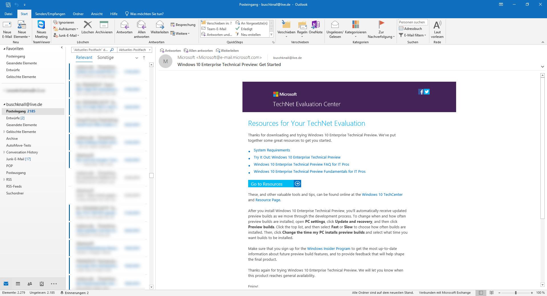 Screenshot 1 - Microsoft Outlook 2021