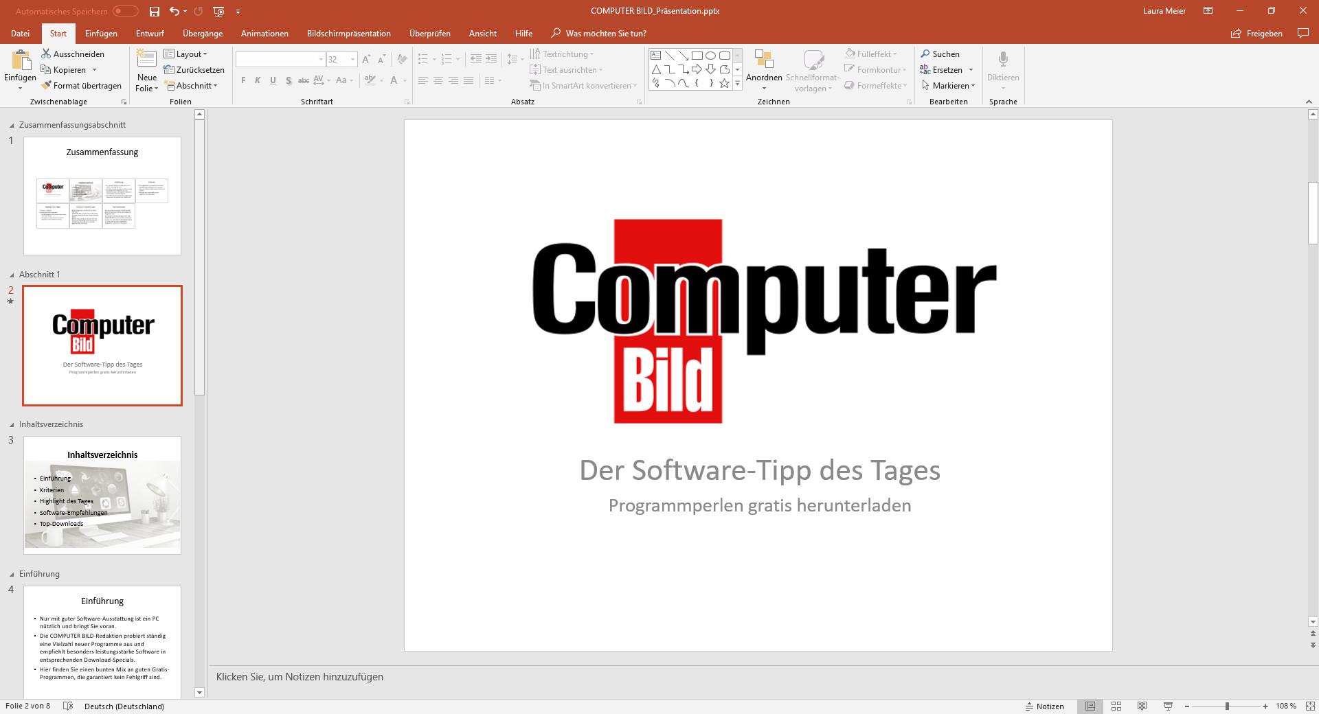 Screenshot 1 - Microsoft PowerPoint 2021