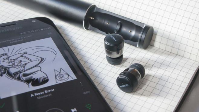 nokia bh 705 true wireless earbuds im test computer bild. Black Bedroom Furniture Sets. Home Design Ideas