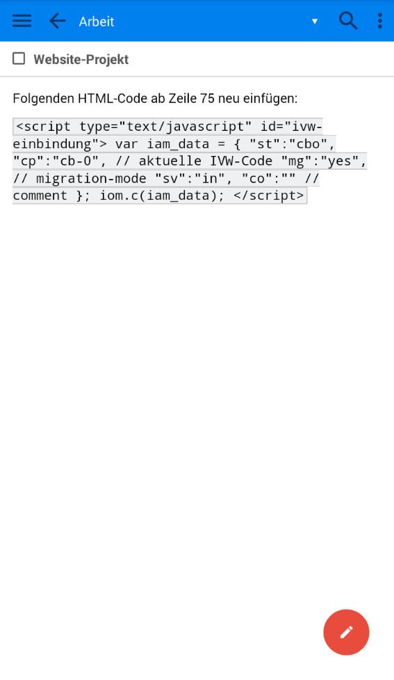 Screenshot 1 - Joplin (App für iPhone & iPad)