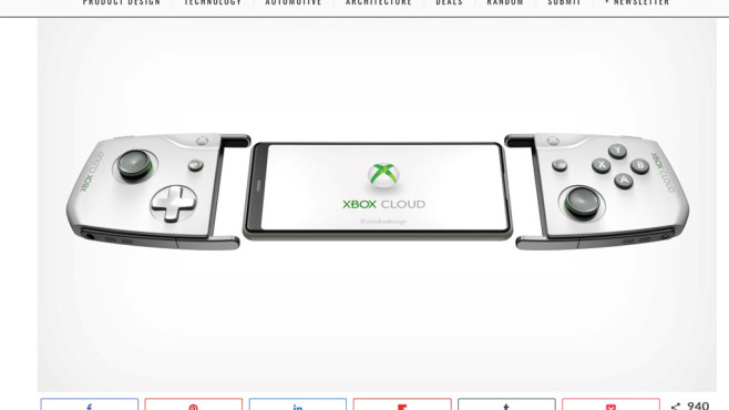 Project xCloud: Controller © yankodesign.com