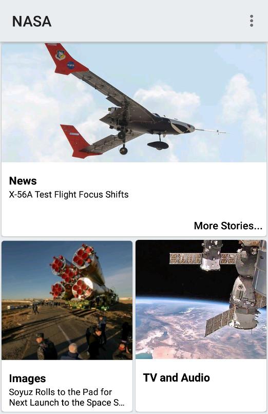 Screenshot 1 - NASA (Android-App)