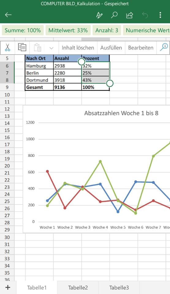 Screenshot 1 - Microsoft Excel (App für iPhone & iPad)