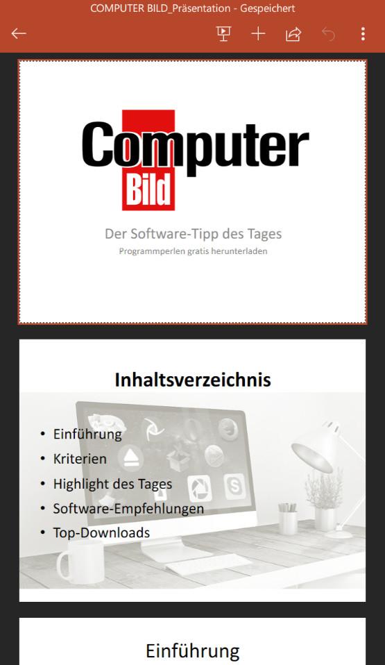 Screenshot 1 - Microsoft PowerPoint (App für iPhone & iPad)