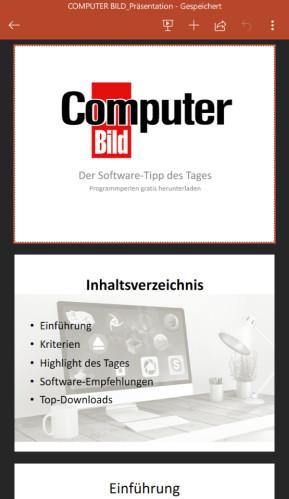 Microsoft PowerPoint (App für iPhone & iPad)