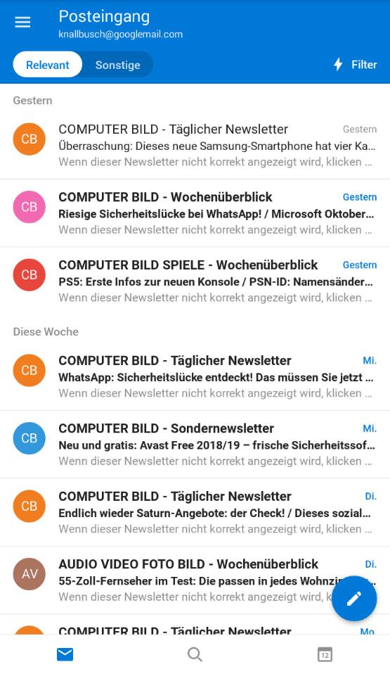 Screenshot 1 - Microsoft Outlook (App für iPhone & iPad)