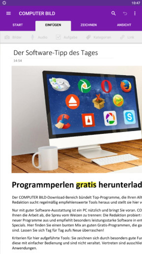 Microsoft OneNote (App für iPhone & iPad)