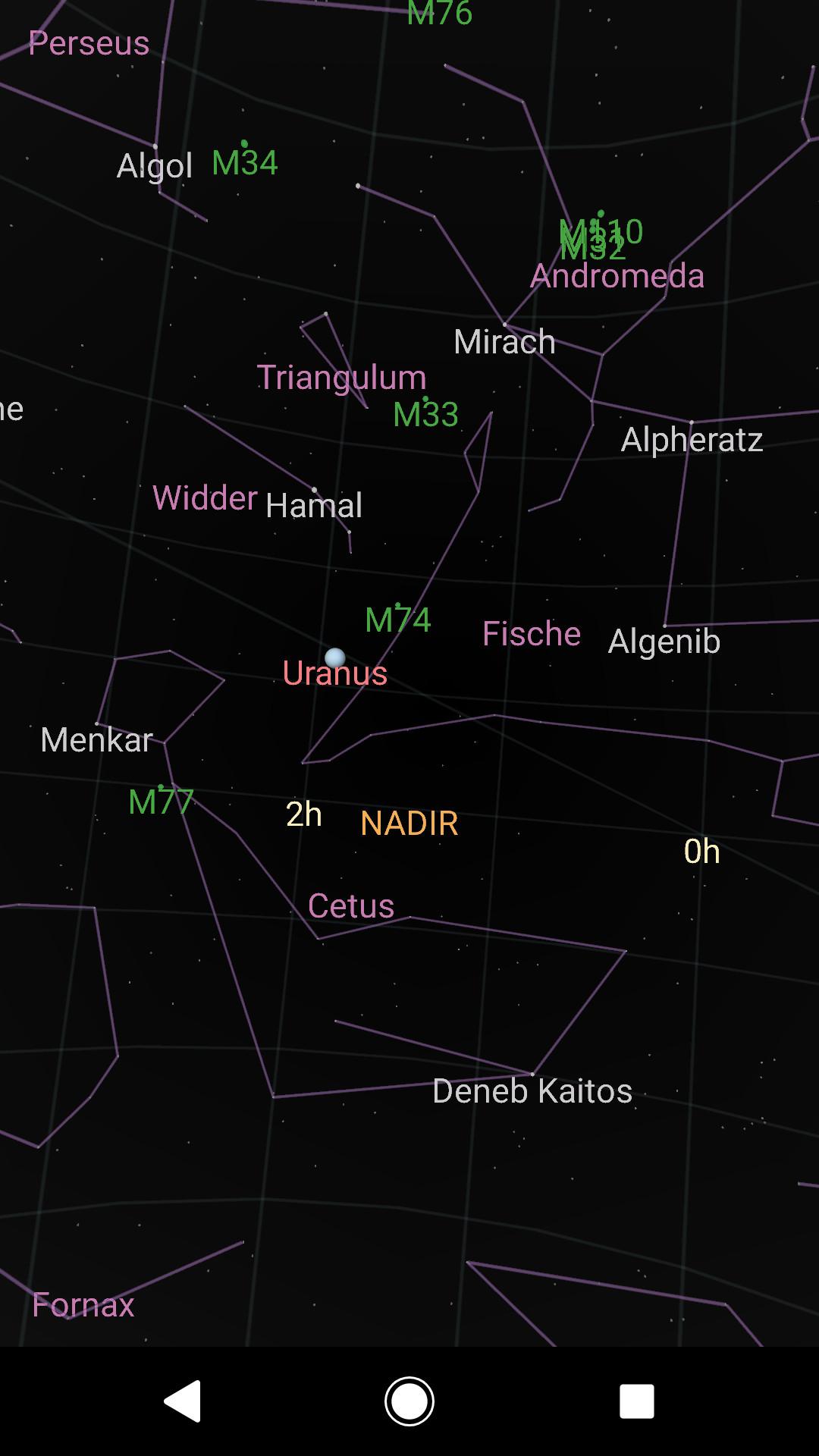 Screenshot 1 - Sky Map (Android-App)