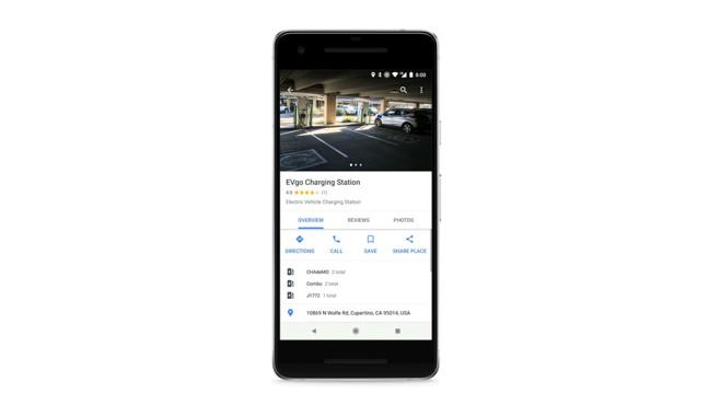 Google Maps: Kartennst findet Ladestationen für Elektroautos ... on