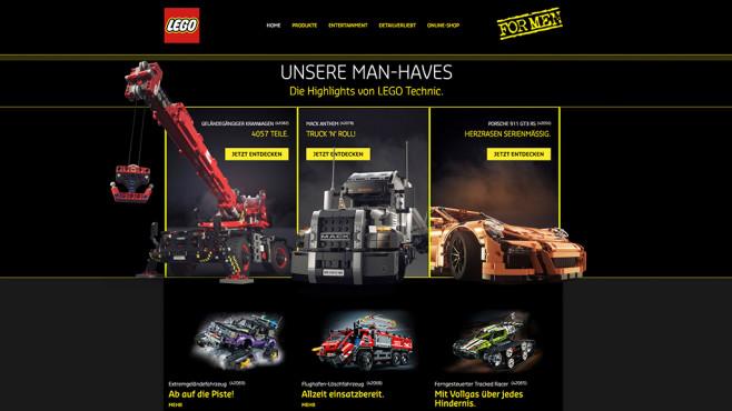Lego schaltet sexistische Werbung: Brickstorm losgebrochen Auf dem digitalen Archiv Wayback Machine finden sich noch die Bilder der irreführenden Werbe-Kampagne. Quelle:©Screenshot via www.web.archive.org