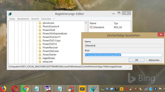 Windows 7/8/10: Registry-Editor zweimal starten©COMPUTER BILD
