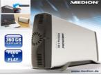 Die Medion-Festplatte bietet 360 Gigabyte Speicherplatz.