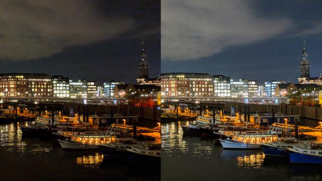 Nachtsicht Google Pixel 3©COMPUTER BILD/Michael Huch