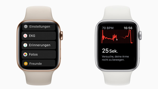 Apple Watch EKG © Apple, Screenshots: COMPUTER BILD