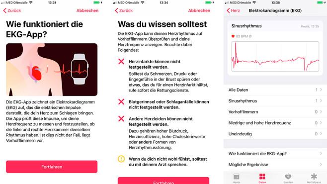 Health App auf dem iPhone©Screenshots: COMPUTER BILD