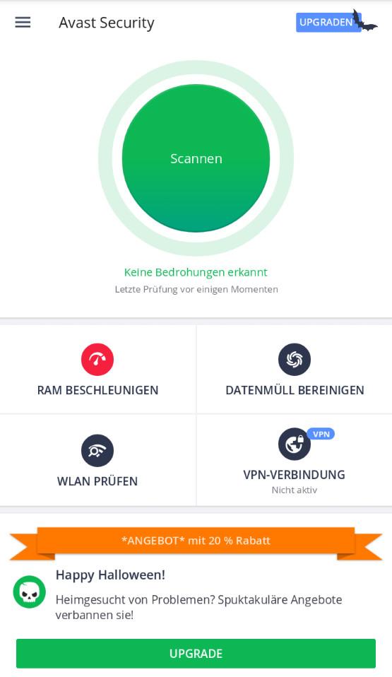 Screenshot 1 - Avast Mobile Antivirus & Virenschutz (Android-App)
