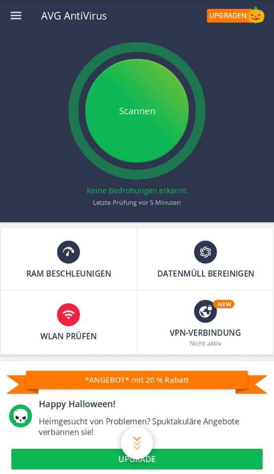 Screenshot 1 - AVG AntiVirus Free (Android-App)