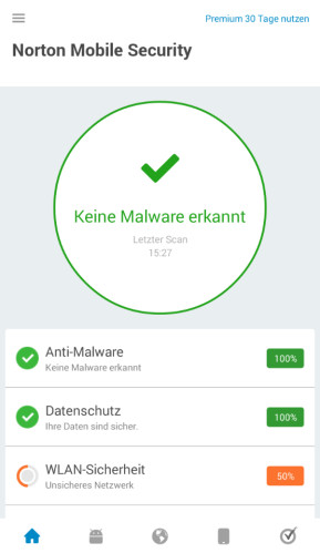 Norton Antivirus & Sicherheit (Android-App)