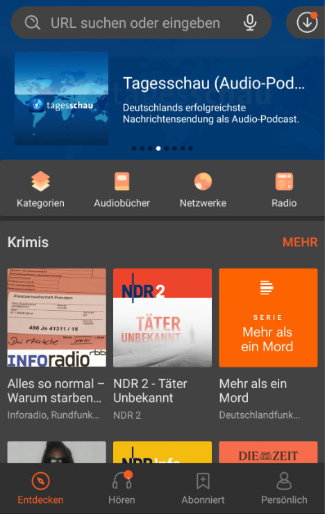 Screenshot 1 - Castbox - Podcasts & Audio (Android-App)