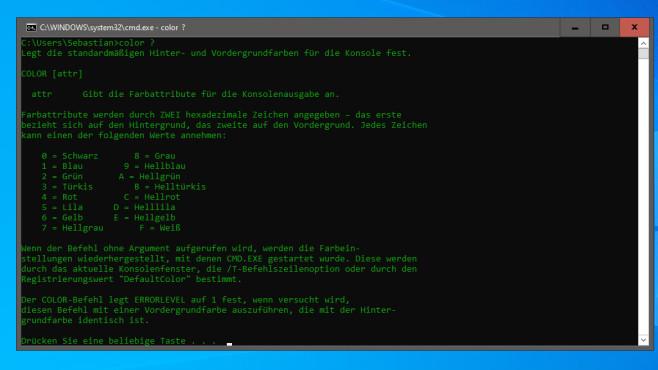 Batch-Dateien erstellen: Befehle und Anfänger- sowie Experten-Tipps Die Kommandozeile beherrscht verschiedene Farben, in der Folge realisieren Sie sie per Batch.©COMPUTER BILD