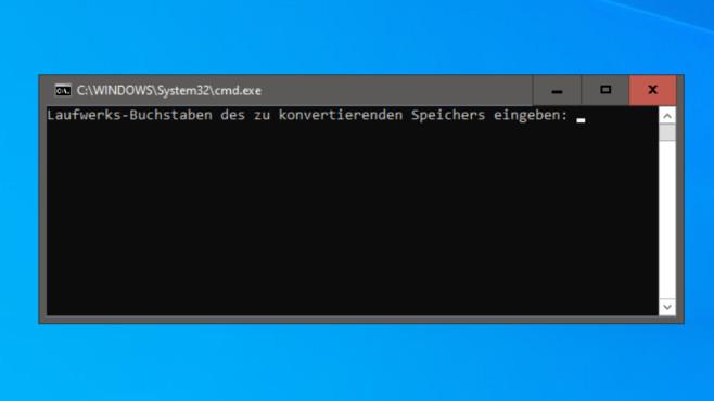 Batch-Dateien erstellen: Befehle und Anfänger- sowie Experten-Tipps Solche Skripte wie einen hier gezeigten FAT32-zu-NTFS-Konverter sind in etwa einer Minute gecodet.©COMPUTER BILD