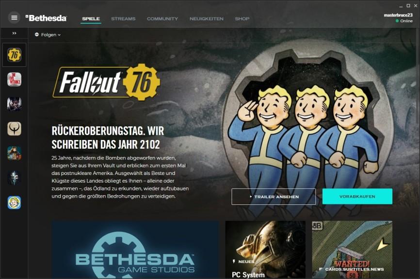 Screenshot 1 - Bethesda.net Launcher