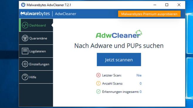 AdwCleaner: Schädlinge entfernen ©COMPUTER BILD