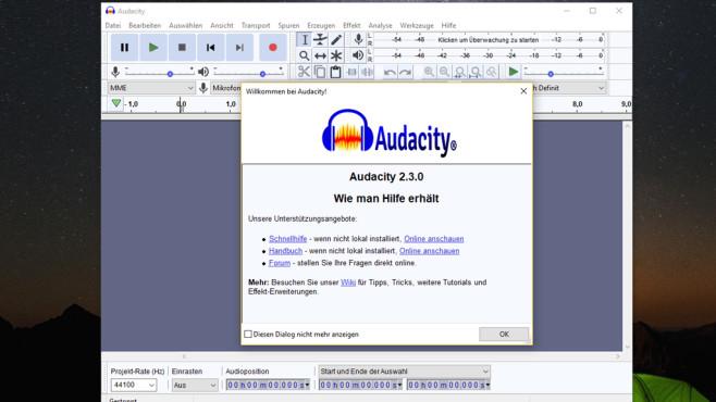 Audacity: Musikdateien bearbeiten ©COMPUTER BILD