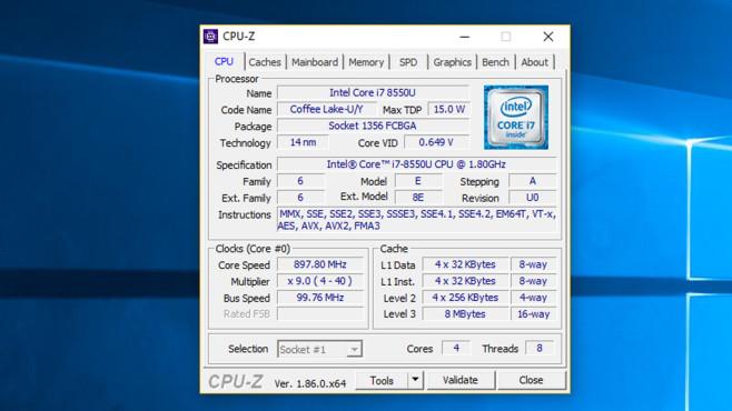 CPU-Z: Prozessor-Eckdaten ermitteln ©COMPUTER BILD