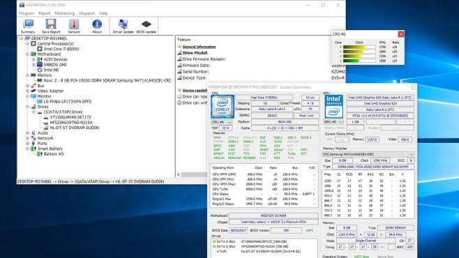 HWiNFO64: System-Infos (in Echtzeit) ermitteln ©COMPUTER BILD