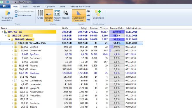 TreeSize Free: Dateibrocken identifizieren und löschen ©COMPUTER BILD