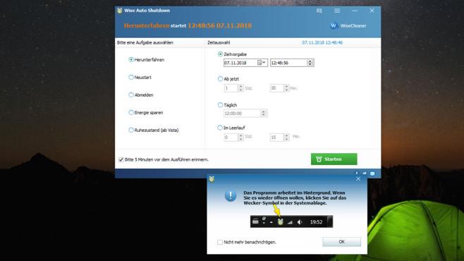 Wise Auto Shutdown: Windows automatisch beenden ©COMPUTER BILD