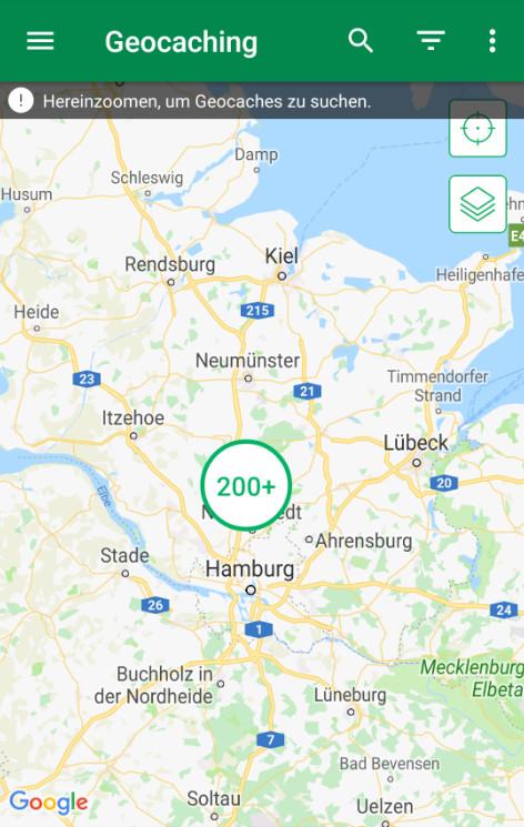 Screenshot 1 - Geocaching (Android-App)