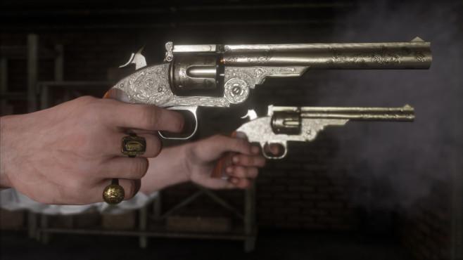 Red Dead Redemption 2: Alle Tipps & Tricks Dank dem Glitch durch den Sie unendlich Gold bekommen gönnen Sie sich neue Schießeisen.©Rockstar Games