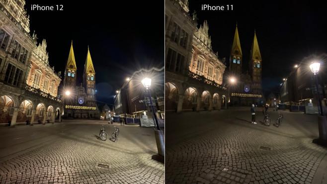 iPhone 12: Ultraweitwinkel bei Nacht©COMPUTER BILD