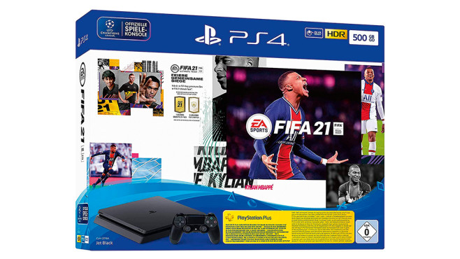 PlayStation 4 Slim Konsole mit EA Sports FIFA 21 © Sony, Amazon, EA Sports
