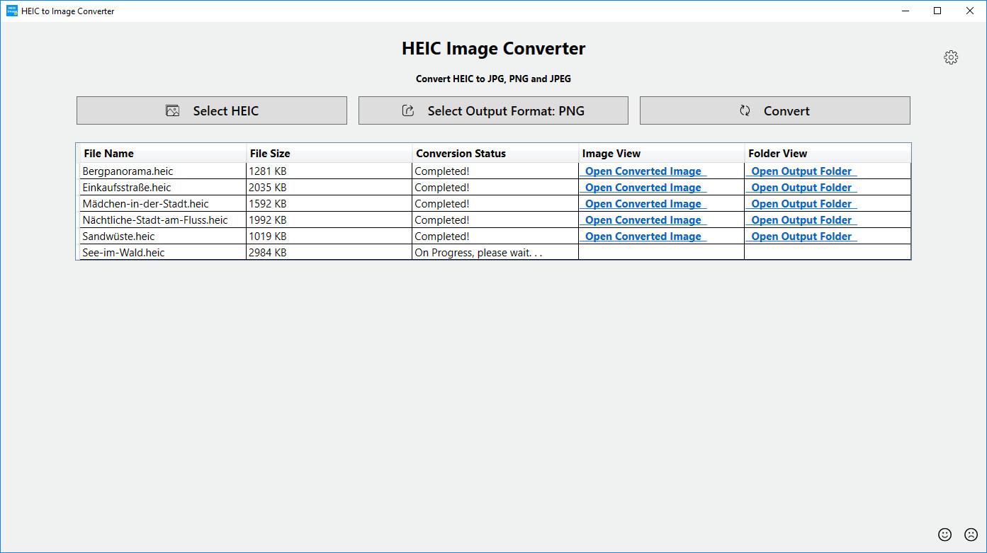 Screenshot 1 - HEIC Image Converter Tool (Windows-10-App)