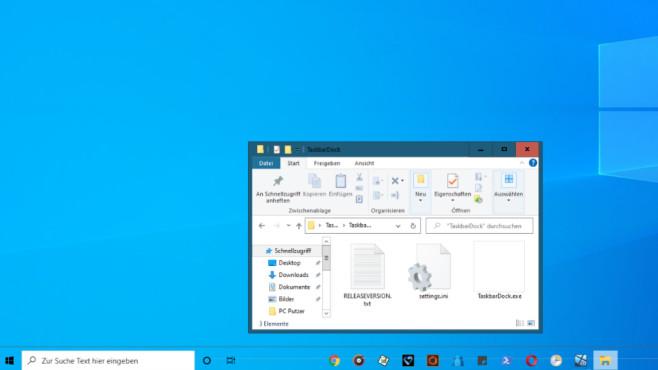 TaskbarDock-Programmfenster©COMPUTER BILD